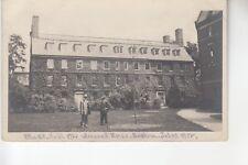 Real Photo Postcard Massachusetts Hall Harvard University Cambridge MA
