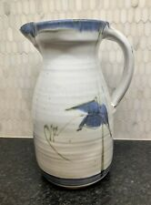 Vintage Hand Thrown Artist Signed Stoneware Glazed Scott Studio Pottery Pitcher