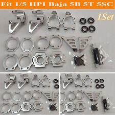 1/5 HPI Baja 5B 5T 5SC CNC Alloy Front & Rear Wheel Hub Carrier Set Repair Parts