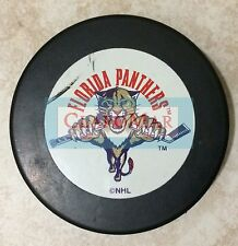 ☀ Vintage NHL Florida Panthers Hockey Logo Puck