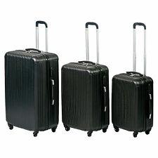 T-LoVendo Set 3 Maletas de Viaje, Semirigidas con 4 Ruedas - Negras