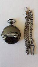 Volvo P 1800S ref279 pewter effect emblem polished black case mens pocket watch