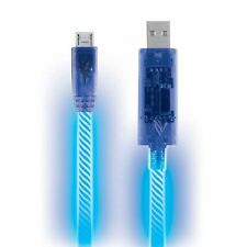 Blue LED Light Micro USB Charger Data Sync Cable for Samsung Galaxy HTC Android