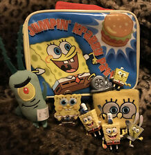 Spongebob Squarepants Lunch Box / Bag And Toy Lot! - Includes Plankton and Gary