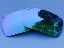 ENGRAVED POLARIZED ICE BLUE MIRRORED REPLACEMENT OAKLEY GASCAN S LENSES