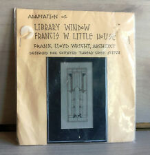 """Cross Stitch Kit Library Window Francis Little House! NEW! 3"""" x 8"""" Craft Sewing"""