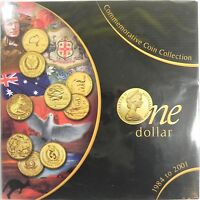1984-2001 $1 ONE DOLLAR COMMEMORATIVE COIN COLLECTION in Large Folder