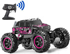 Songtai Remote Control Car, Pink Rc Truck 4x4 Off-Road Waterproof Function 360°