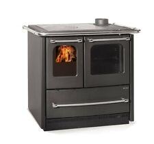 Stufa cucina a legna NORDICA Sovrana Easy EVO 9,0 kW in acciaio nero antracite