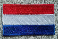 NETHERLANDS FLAG PATCH Embroidered Badge Iron Sew on 3.8cm x 6cm Nederland Dutch