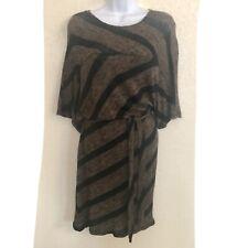 Max Studio Short Sleeve Brown Sweater Dress Nwt Size XS