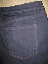 Ann Taylor LOFT Original Boot Stretch Dark Blue Denim Jeans Womens Size 12 x 33