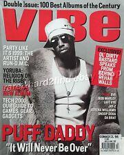 Puff Daddy VIBE Magazine Dec/Jan 99 RARE Vintage URBAN Music & Lifestyle P Diddy
