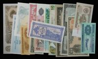 15 Different Mixed Foreign World Banknote Currency Paper Money Lot #198