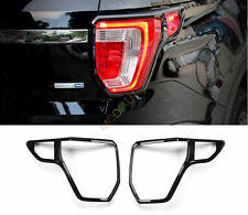 For Ford Explorer 2016 2017 BLACK ABS Chrome Rear Taillamp Light Covers 2Pcs