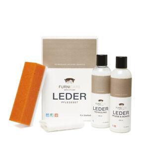 Furnicare Set: Lederreiniger & Lederpflege (250ml) Glattleder Reinigung Pflege