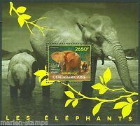 CENTRAL AFRICA 2014 ELEPHANTS   SOUVENIR SHEET MINT NH