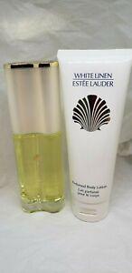 "Estee Lauder White Linen ""choose"" edp 2oz 60ml parfum~ body lotion 3.4oz 100ml"