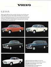 VOLVO 142,144, 122S AND 1800S MODELS SALES 'BROCHURE'/SHEET 1968 USA MARKET