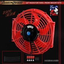 """Fit For 10"""" Universal Pull Push Racing Electric Radiator Engine Cooling Fan Red"""