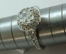 18 ct ladies cushion Diamond Ring