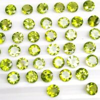 Wholesale Lot of 4mm Round Facet Cut Natural Peridot Loose Calibrated Gemstone