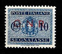 G.R.N. - 1944 - Segnatasse - cent 10 - sassone 48 - sovrastampa rosso