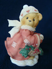 Cherished Teddies - Shirley - Girl Carrying Basket And Holly - 533777 - 1999
