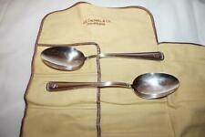 Pair of JE Caldwell & Co Sterling Silver Serving Spoons with Original Cloth Wrap