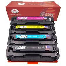 4 Pack Toner Cartridge CF400A 201A Black Color Set For HP Laserjet M252dw M277dw