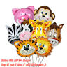 1/2pcs Animal Cartoon Foil Balloons Kids Decor Jungle Birthday Party Baby Shower