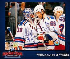 HENRIK LUNDQVIST & JAROMIR JAGR Dual-Signed New York Rangers 8 x 10 Photo -70401