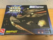 STAR WARS AMT ERTL EP1 SNAPFAST TRADE FED DROID FIGHTERS NEW