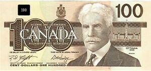 "Canada 100 Dollars 1988 UNC ""BJV"" RADAR"