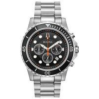 Bulova Men's Quartz Chronograph Multi Dial Rotating Bezel 42mm Watch 98B326