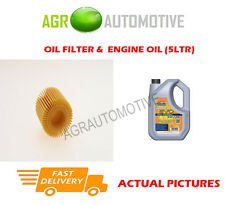 PETROL OIL FILTER + LL 5W30 ENGINE OIL FOR TOYOTA AVENSIS 1.8 147BHP 2008-