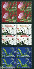 Nederland 1994 Milieu, bloemen 1601-1603 blokken van 4 *75% van de postprijs*