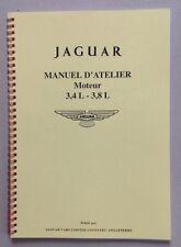 JAGUAR MKII 3,4 L & 3,8 L -Type E 3,8 L - Manuel d'Atelier Moteur en Français