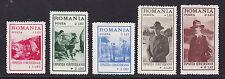 ROUMANIE / ROMANIA N° 422 à 426 * MLH neufs avec charnière, B/TB, cote: 35 €