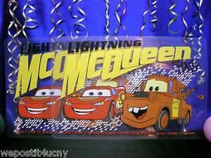 2 Cars PlaceMats For Kids Featuring Lightning Mc Queen & Mater Best Friends