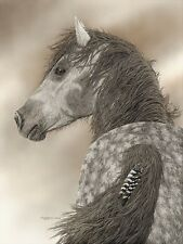 """Stars and Stripes"" Judy Larson Western Fine Art 20"" Giclee Canvas"