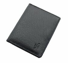 Starhide Mens Real Leather Slim 8 Credit Card Holder Case Wallet Black 105 Black