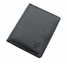 Starhide Mens Real Leather Slim 8 Credit Card Holder Case Wallet Black 105 Black