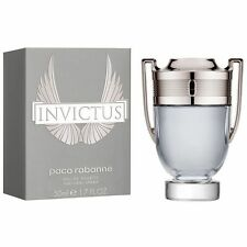 Invictus Paco Rabanne Authentic 3.4oz 100ml Cologne EDT Perfume Silver Color Man