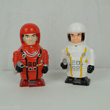 """(2) NEW 90's Comet Toys: Windup 4"""" Astronaut: 2001: A Space Odyssey NOS VTG"""