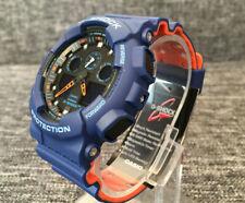 CASIO G SHOCK GA-100L-2A BLUE&ORANGE ANALOGUE&DIGITAL STOPWATCH TIMER BRAND NEW