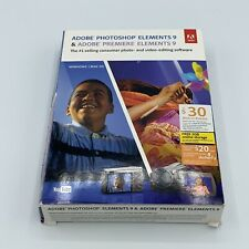 Adobe PHOTOSHOP ELEMENTS 9 & PREMIERE ELEMENTS 9 for Windows Mac OS New Sealed