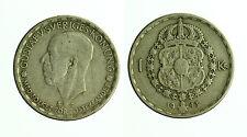 pcc1721_11) SVEZIA SWEDEN SVERIGE  -  1 krone 1943 Gustav V - SIGNS