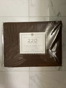 BASIC COLLECTION 3 PIECE TWIN SHEET SET 220 THREAD CT NEW