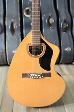 Vintage 1972 Giannini Craviola 12 string acoustic guitar with original case
